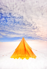 Pitching A Tent In Antarctica (Stuck in Customs) Tags: blue red sky orange brown white holiday snow black color colour reflection building green nature water yellow vertical horizontal architecture female night clouds outside outdoors grey lights photo sand soft village view outdoor stones feminine sony hill january dream reserve rr antarctica daily huts patio nighttime planes curve trey 2015 ratcliff hdrphotography stuckincustoms p2016 treyratcliff stuckincustomscom aurorapro ilce7r