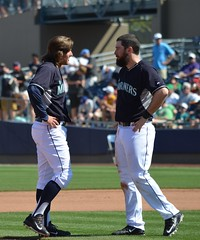 BradMiller and Dustin Ackley hatless (jkstrapme 2) Tags: cup jock baseball bulge