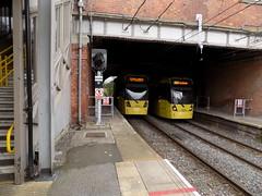 Metrolink 3003 & 3008 (Michael McNiven) Tags: manchester sale tram swift trafford metrolink 3003 bombardier 3008 altrincham m5000 flexity etihadcampus