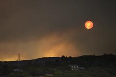 Angrey Sky (edwinemmerick) Tags: sunset sky cloud nature weather landscape smoke australia bluemountains nsw