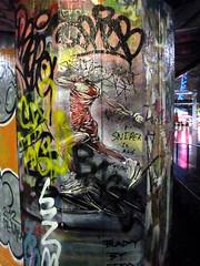 Paul Don Smith stencil, Southbank (duncan) Tags: graffiti iceskating southbank figureskating iceskater icedancing figureskater icedancer