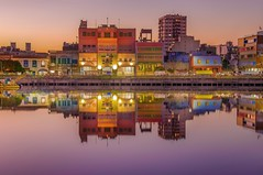 Sunset colors (karinavera) Tags: city longexposure travel sunset argentina colors buenosaires cityscape laboca nikond5300