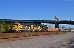 "Northbound Transfer in Kansas City, MO (""Righteous"" Grant G.) Tags: santa city railroad train ns north norfolk railway trains southern missouri kansas locomotive fe bnsf northbound atsf"