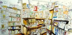 Melle, le Matoulu a 10 ans :-) (Croctoo) Tags: croctoo croctoofr croquis aquarelle watercolor librairie boutique melle poitou livre bouquin