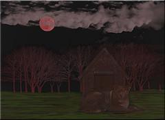 Shizandra and the Strawberry Moon (Jo-Monsoon Season I Hope!!!!) Tags: pink trees moon grass clouds forest photoshop creation doghouse ddc 1694 strawberrymoon shizandra