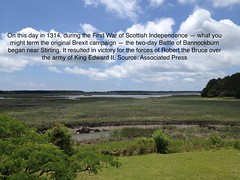 The First BREXIT ? (Gabriel FW Koch) Tags: quote brexit britain england gren green sky blue marsh scotland landscape canon water