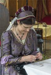 A fine lady (Clive1945) Tags: tewkesburymedieval d7100 reenactors battle tewkesbury jewlery