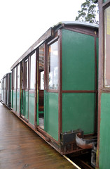 Hythe Pier Tramway (R~P~M) Tags: uk greatbritain england electric train coast pier coach carriage unitedkingdom railway hampshire tramway narrowgauge hythe southamptonwater hants hythepiertramway