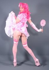103H1L (klarissakrass) Tags: costume cosplay crossdress stockings sissy fishnet upskirt pink pleaser pinup pinkhair lolypop funny carnival crossdressing