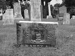 Walled Lake Cemetery (dogeardave) Tags: walledlakecemetery tombstone graveyard cemetery gravemarker