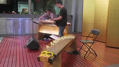 Playing strings in Queen St Mall (Sheba_Also Millon + Views) Tags: playing strings queen st mall