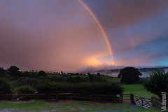 Dusk Double Rainbow (Tony McD) Tags: double rainbow shrewsbury hills clouds england nikon nikkor 2470 d610 hoya handheld highiso