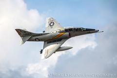 A-4 Skyhawk - 2016 Thunder Over Michigan Air Show (mikelynaugh) Tags: ta4jskyhawk ta4j thunderovermichigan airshow tom2016 2016tom tom ypsilanti michigan mi airshowphotos photos photosof mikelynaugh lynaugh aviation yankeeairmuseum willowrunairport willowrun a4 a4skyhawk skyhawk scooter