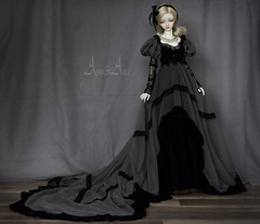LDoll Festival: Silver Crow (AyuAna) Tags: bjd ball jointed doll dollfie ayuana design handmade ooak clothing clothes dress set victorian edwardian style historical