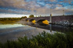 Sunrise a New Day (Andrew Lincoln Photos) Tags: bridge berkley sunrise morning sky clouds river dighton massachusetts andrewlincolnphotographer