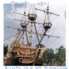 Chicken of the Sea Pirate Ship Restaurant, March 1967 (Tom Simpson) Tags: disney disneyland vintage 1960s 1967 vintagedisney vintagedisneyland chickenoftheseapirateshiprestaurant pirateship restaurant