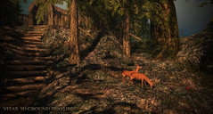 New 3D Ground Texture - Autumn Park (Vita Camino) Tags: secondlife giardini vita caminosim dustbunny collabor 88 gacha af autumn rent digital slur texture ground terrain visit deer forest fall