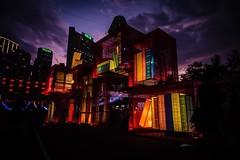 The Mid-Autumn Festival in Causeway Bay. #HKLife #pointsofconvergence (LyricalKnwledge) Tags:    blocks square books shade green yellow blue red color sunset night lantern festival midautumn light hongkong
