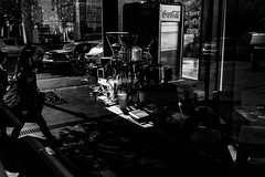 Coffee shop (Pierre Pichot) Tags: cluj clujnapoca romania street streets streetphotography blackwhite blackandwhite black white urban monochrome fuji fujifilm x100t reflection coffee shop