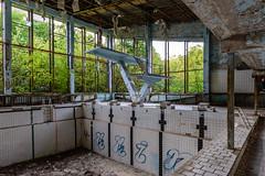 Crazy Wim going for a swim (geert.dehert) Tags: urbanexploration urbanexplorer urbanexploring urbex urban abandoned adventure desolation decay d750 explore ukraine pripyat chernobyl nikon