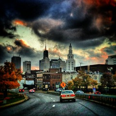 Oak St. #downtown #buffalo #sky #sunset (Michael William Thomas) Tags: wedding ny newyork mike square photography michael buffalo photographer thomas squareformat mikethomas mtphoto iphoneography instagramapp uploaded:by=instagram michaelwilliamthomas