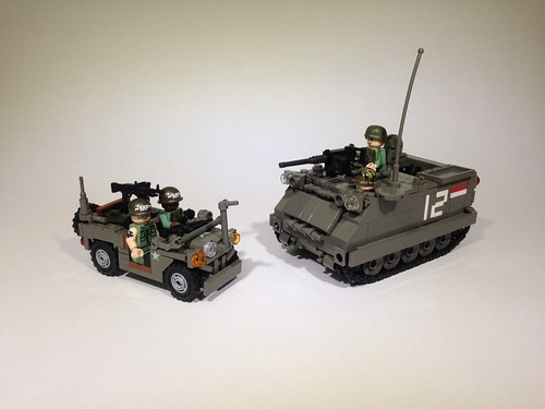 MUTT jeep and M113 Mortar