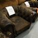 Suede armchair