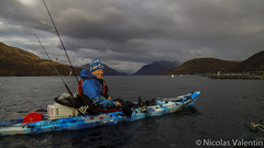 The great outdoor (Nicolas Valentin) Tags: blue winter light sea sky cloud lake cold beach water clouds landscape freedom scotland fishing scenery aqua europe kayak alba scenic deep adventure bleu kayaking loch wilderness etive ecosse lochetive kayakfishing aplusphoto kayakscotland kayakfishingscotland