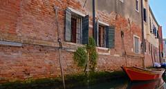 Rouge Venise - Venice in red - Venezia rossa (Max Sat) Tags: architecture bateau boat city citylandscape colorful colors couleurs day dorsoduro fuji fujixe1 fujinon italia italie italy lagune light lumière maxsat maxwellsaturnin pupparin red rouge ship venezia venice venise xe1 xf xf1855 xpro1 unexplored