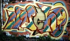 much11 (oldschooltwincitiesgraffiti) Tags: street art minnesota train graffiti midwest paint stpaul minneapolis tags spray mpls 1997 much spraypaint twincities graff aerosol hm mn freight 97 bombshelter mucho stp