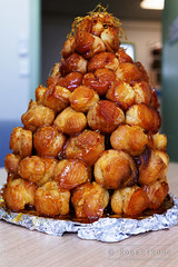 20141202-03-Tanya's croquembouche (Roger T Wong) Tags: christmas food office australia tasmania hobart croquembouche 2014 sonyalpha7 sonya7 carlzeiss35mmf28 rogertwong sonyilce7