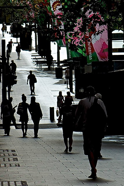 Early Sunday morning in Martin Place.