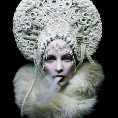 White Mischief (Helen Warner (airgarten)) Tags: winter selfportrait smoke fineart belfast queen mischief headpiece helenwarnerphotography agnieszkaosipa