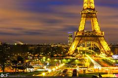 Eiffel Tower (AntonioDiFedePhotography) Tags: city travel paris france tower night landscape lights eiffel