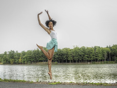 Silver Lining (Narratography by APJ) Tags: woman beautiful jump dancers nj reach leap apj narratography