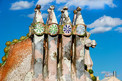 Casa Batlló - Barcelona, Spain (The Web Ninja) Tags: barcelona travel roof color colour travelling rooftop architecture canon photography photo casa spain colorful flickr catalonia explore architect spanish gaudi traveling catalan traveler batlló antonigaudi travelphotography explored
