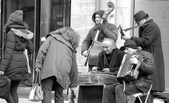 Just one hour in my hometown ! / Musical street performance ! (tusuwe.groeber - Hello ! Im back !!! :-))) Tags: street bw white black shot sony sw schwarz photographing oldenburg niedersachsen lowersaxony weis aufnahme strase pedestrianzones ablichtung fusgngerzone strasenmusiker nex7 musicalstreetperformance