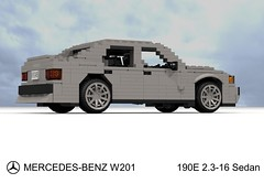 Mercedes-Benz W201 190E 2.3-16 (lego911) Tags: auto car mercedes benz model lego render mercedesbenz 1980s 85 mb challenge daimler cad 190 racer lugnuts povray moc ldd daimlerbenz 190e miniland w201 2316 lego911 liketotally80s