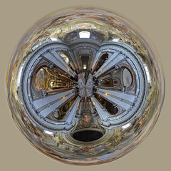 Church interior in Rome, 360 degrees Polar panorama/Crystal Ball (SpirosK photography) Tags: italy panorama rome church ball worship stitch interior 360 holy sphere planet polar crystalball 360degrees  polarpanorama   microsoftice