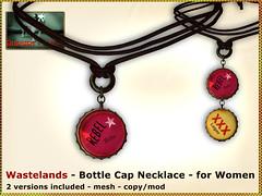 Bliensen - Wastelands - Bottle Cap Necklace - for men & women (Plurabelle Laszlo of Bliensen + MaiTai) Tags: necklace punk veil mask grunge apocalypse fantasy neko bottlecaps bottletops postapocalyptic rustique postapoc