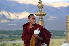 Before the prayer (Road Blog) Tags: monk buddhism monastery leh thikse ladakh thiksey monasteriesofladakh