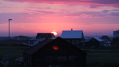 Almost midnight. The sun sets on Gardur, Iceland (asitrac) Tags: geotagged 2014 gardur southernpeninsula iceland is islande eo thechallengegame challengegamewinner