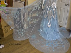 Elsa costume 2014 (EtheraPeril) Tags: snowflake frozen costume outfit dress cosplay disney cape gown rhinestone elsa