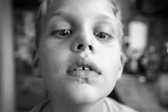 Ambrus II (everybodyisone) Tags: boy portrait bw guy face 35mm child faces sony human porte fullframe ilce7