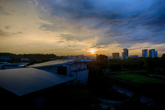 Setting (Explored) (OzGFK) Tags: sunset sky sun colors clouds landscape evening nikon singapore asia cityscape colours afternoon nikkor