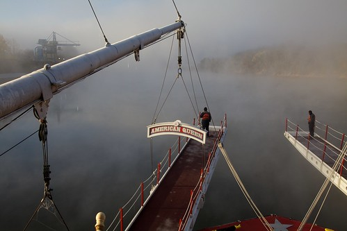 usa fog day watch riverboat steamboat cumberlandriver canonef24105mmf4lis kentuckylandbetweenthelakes