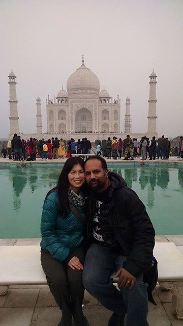 On the VIP bench in front of the Taj Mahal. What an amazing way to spend new years eve - with my amazing beautiful wife at the mist impressive monument to live ever built. Then our tour guide for into a brawl with people who refused to follow instructio