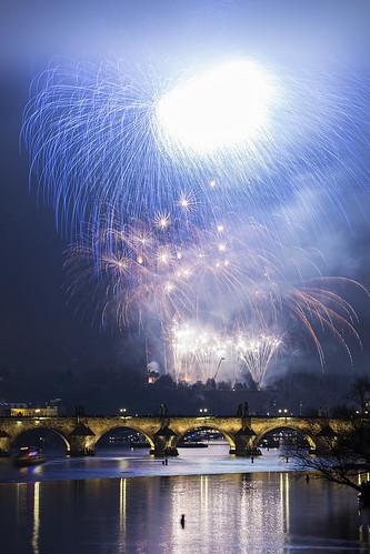 Prague New Year fireworks