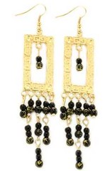 5th Avenue Black Earrings P5120A-4