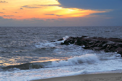 Sunrise on the Beach (Dave Aragona) Tags: ocean beach sunrise landscape dawn newjersey asburypark jerseyshore